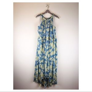 Mod Cloth | Maxi Dress Floral High-Low Fully Lined